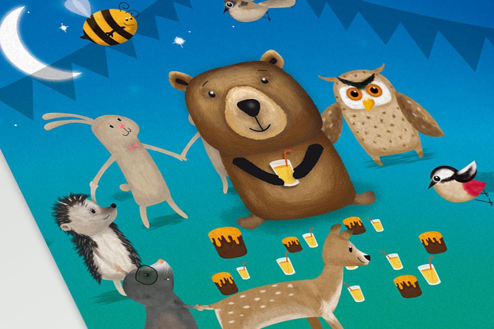 Illustratie voor Droomdag voor Beer - Dream4Kids