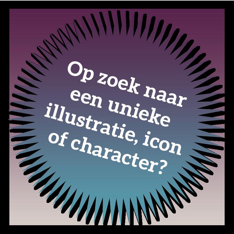 Op zoek naar een unieke illustratie, icon of character?