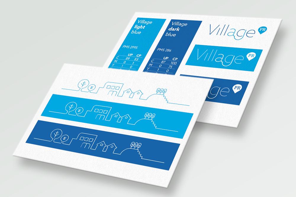 Village PR identity styleguide