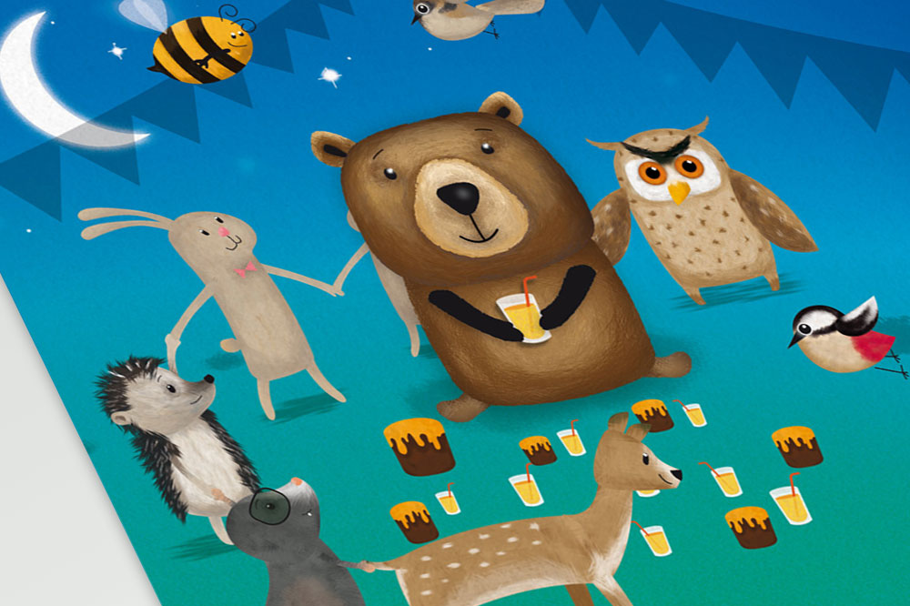 Illustratie voor Droomdag voor Beer - Dream4Kids
